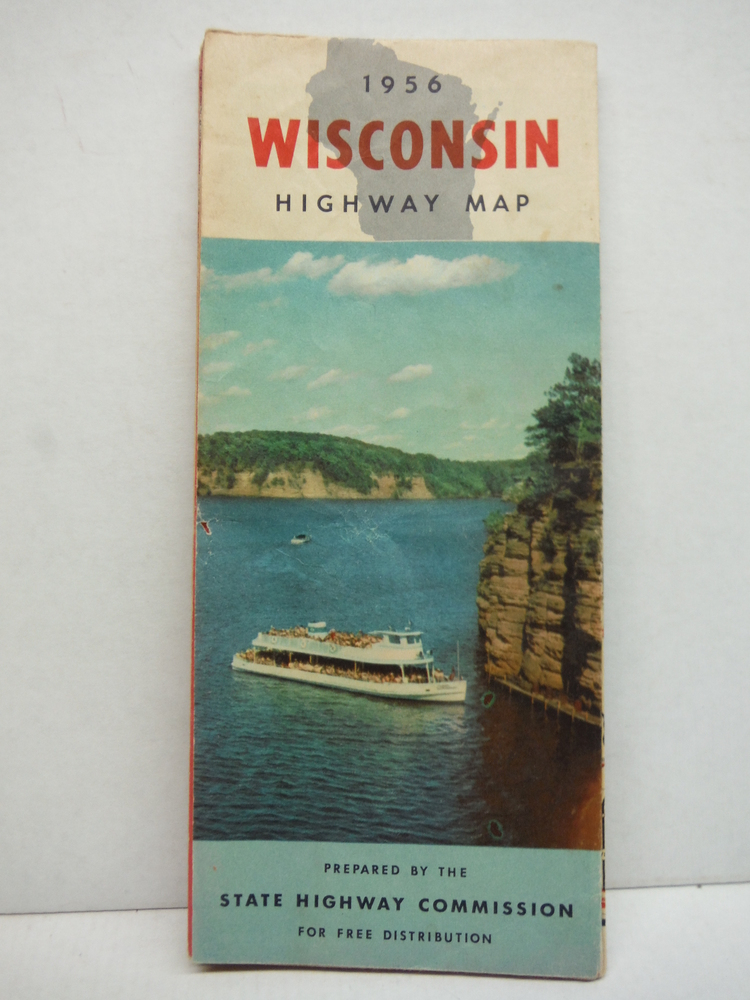Official Highway Map of Wisconsin Issued 1956