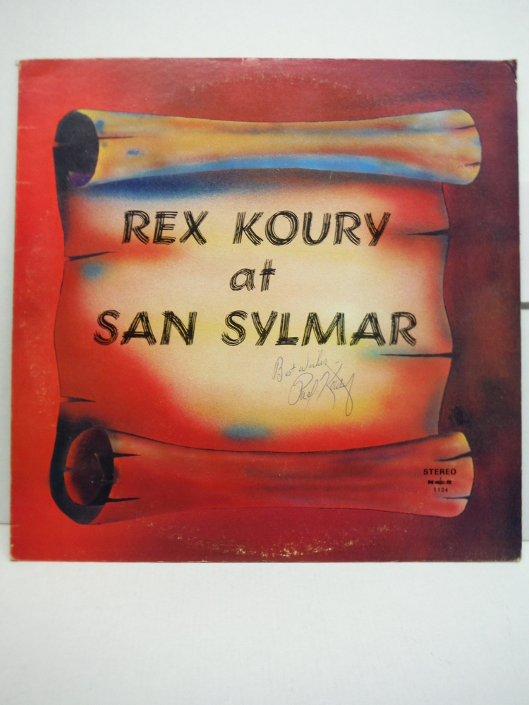 Rex Koury at San Sylmar Stereo Recording (Signed)
