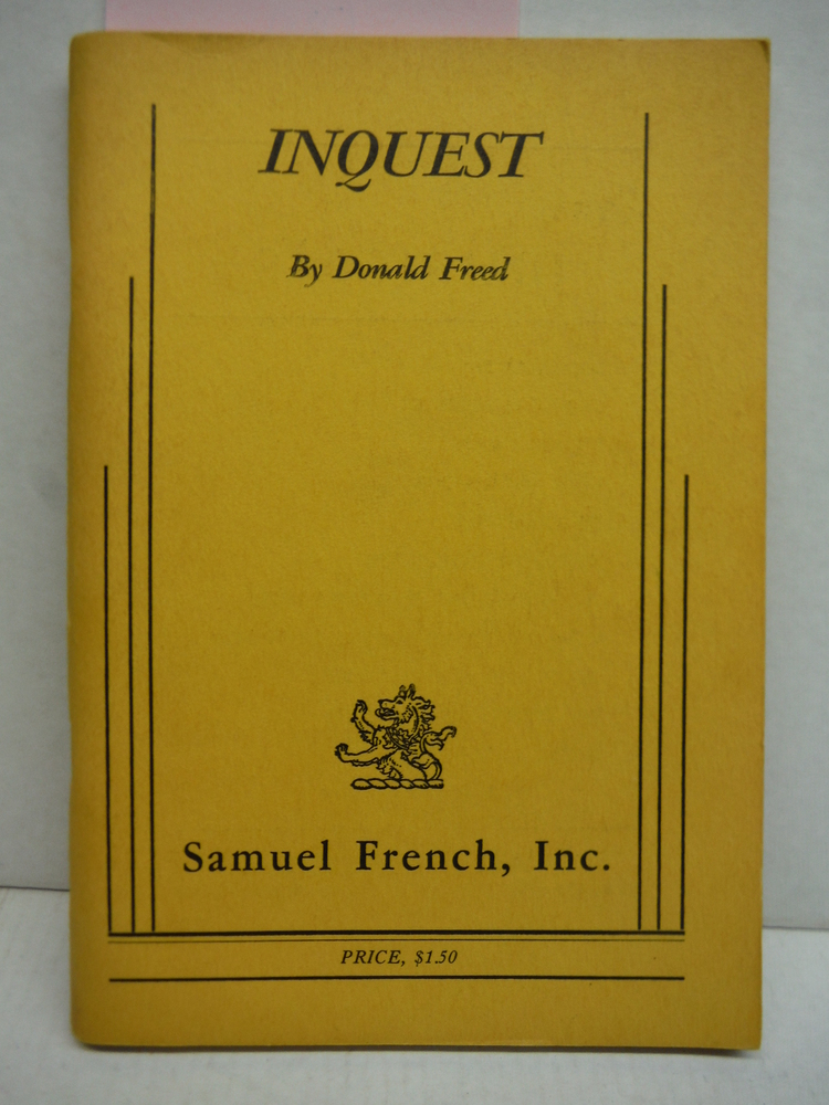 Inquest (Based on Invitation to an Inquest by Walter & Miriam Schneir and The Ju