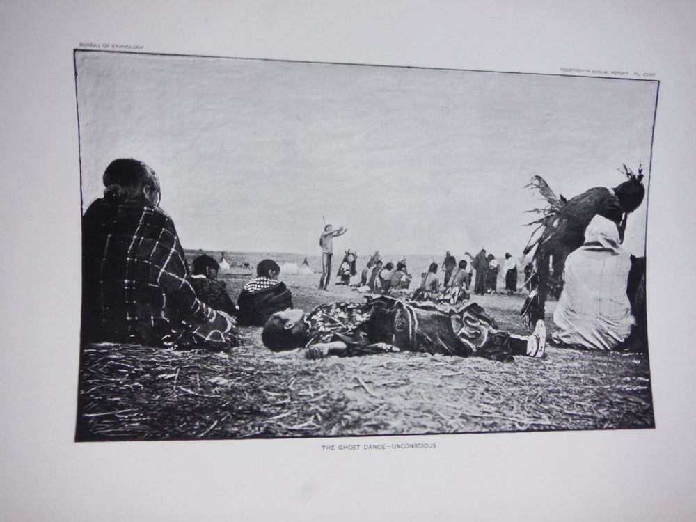 Image 1 of  Native American Dreamers - Ghost Dance Antique Prints  (7) - Bureau of Ethnolog
