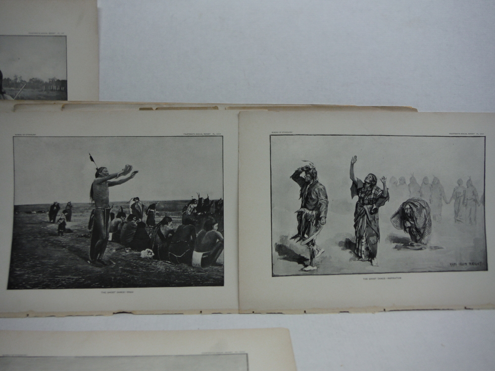 Image 2 of  Native American Dreamers - Ghost Dance Antique Prints  (7) - Bureau of Ethnolog