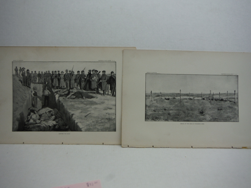 Image 3 of Antique Images of the Battle of Wounded Knee Antique Prints  (5) - Bureau of Eth