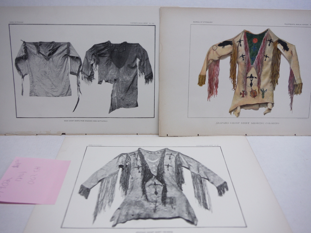 Native American Ghost Shirts - Antique Prints (3) - Bureau of Ethnology (1896)
