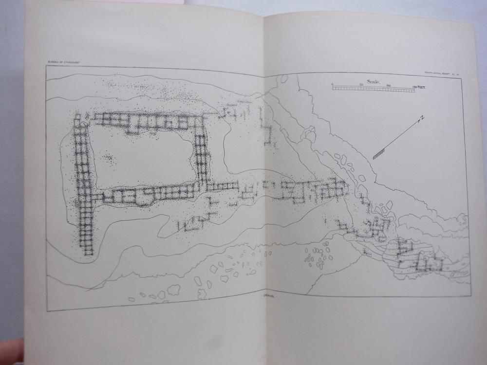 Antique Map of Chukubi, Hopi -  Bureau of Ethnology (1896)