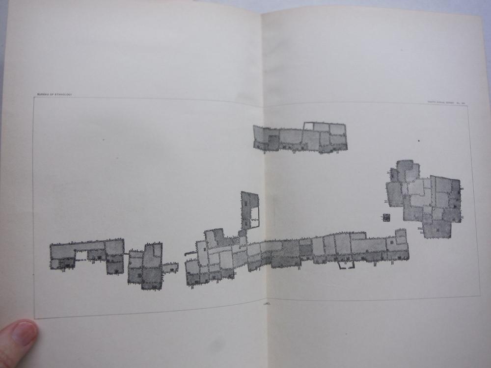 Antique Map of Hano, Hopi Pueblo -  Smithsonian Bureau of Ethnology (1896)