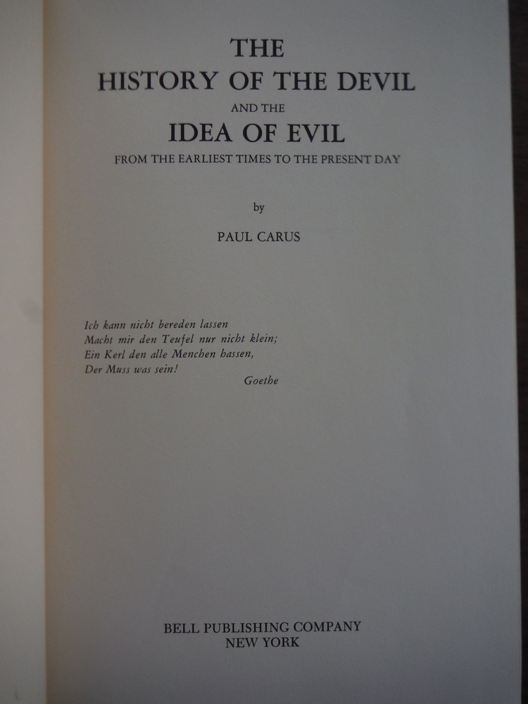 Image 1 of The History of The Devil and the Idea of Evil