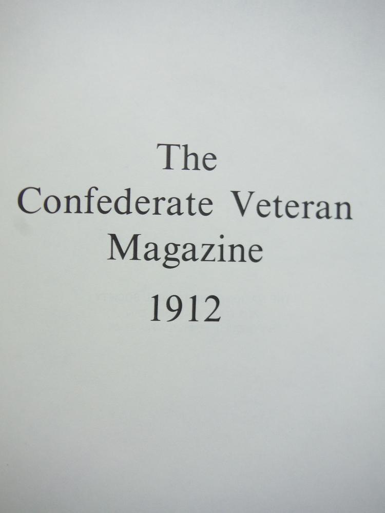 Image 1 of The Confederate Veteran Magazine Volume XX January 1912-December 1912