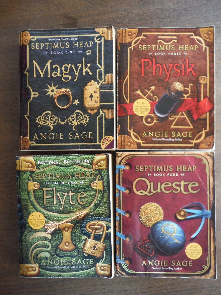 Image 0 of Lot of 4 Septimus Heap Paperback Books 1-4