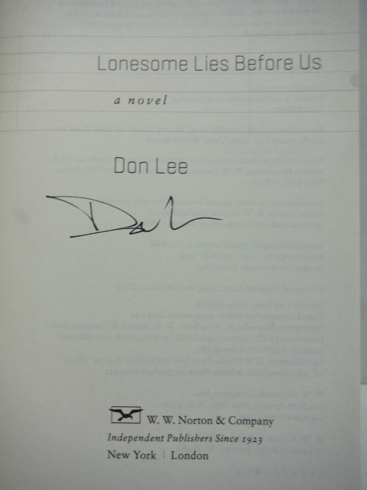 Image 1 of Lonesome Lies Before Us: A Novel