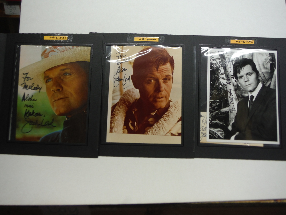 Jack Lord Autographed Photographs (3)