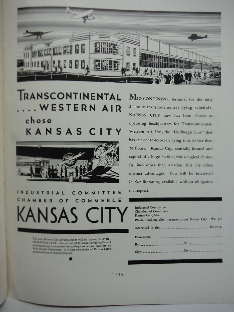 Transcontinenta Western Air (TWA) advertising - Fortune Magazine 1932