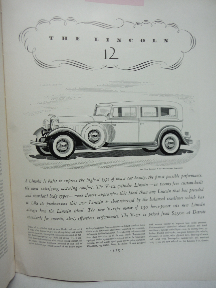 The Lincoln 12 Advertising - Fortune Magazine February 1932