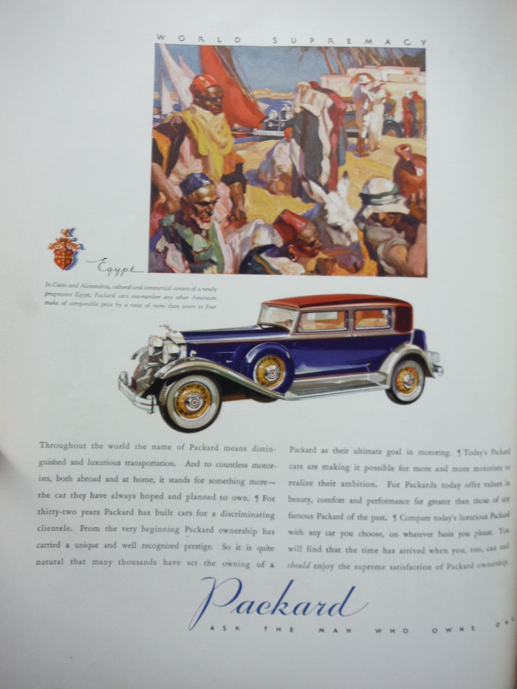 PACKARD AUTOMOBILE COLOR ADVERTISING FORTUNE 1932
