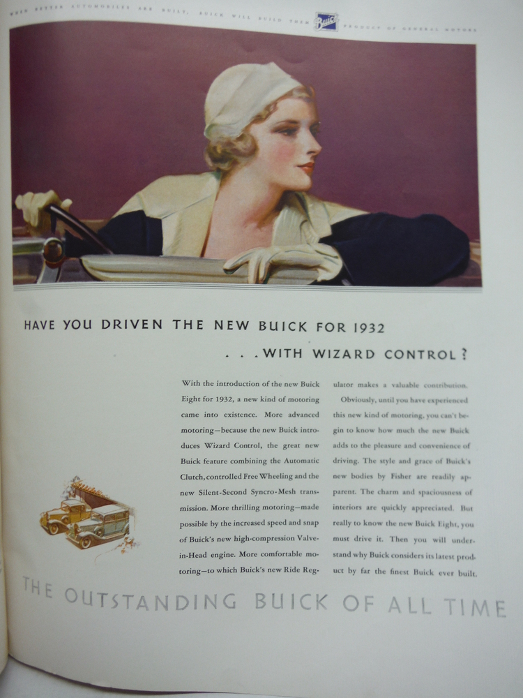 BUICK AUTOMOBILE COLOR ADVERTISING FORTUNE 1932