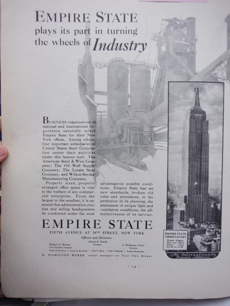 EMPIRE STATE BUILDING  AD -  FORTUNE 1932