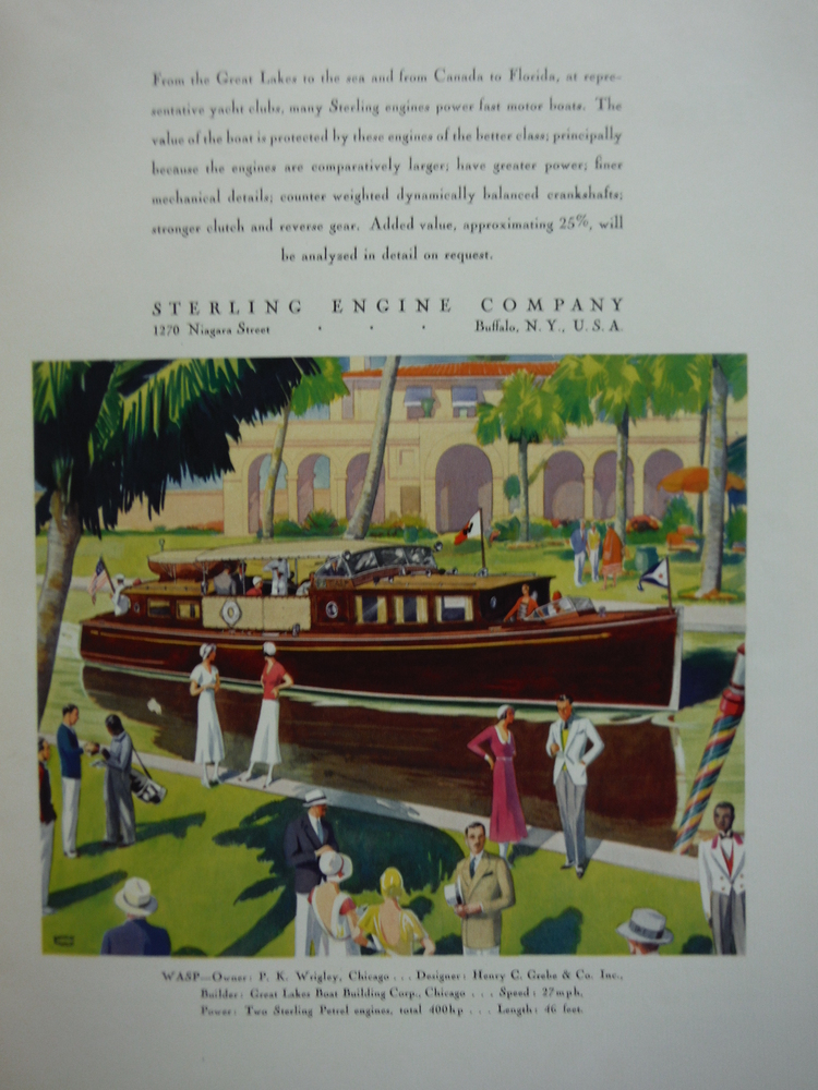 STERLING ENGINE COMPANY  AD -  FORTUNE 1932