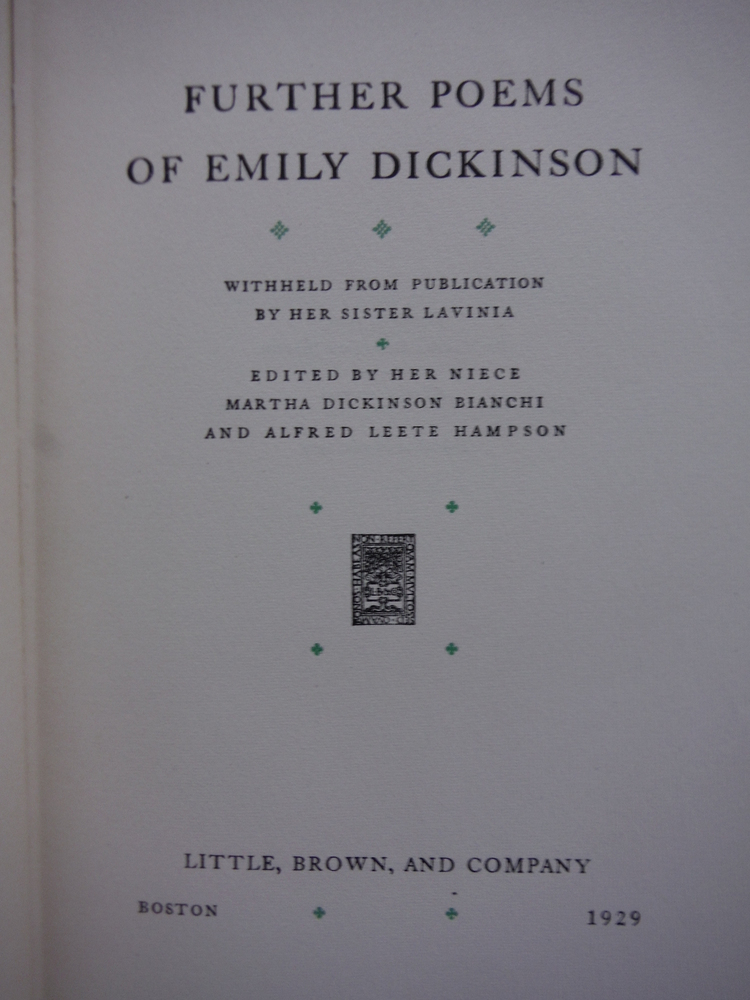 Image 1 of  Poems of Emily Dickinson (Limited First Edition)