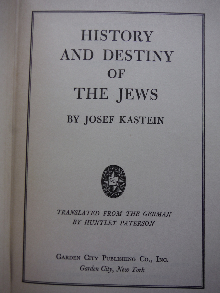 Image 1 of History And Destiny Of The Jews