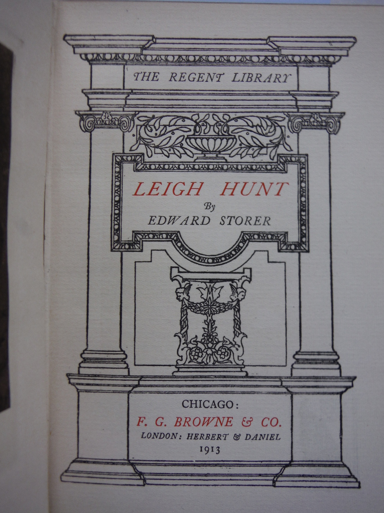 Image 1 of Leigh Hunt (The Regent Library)