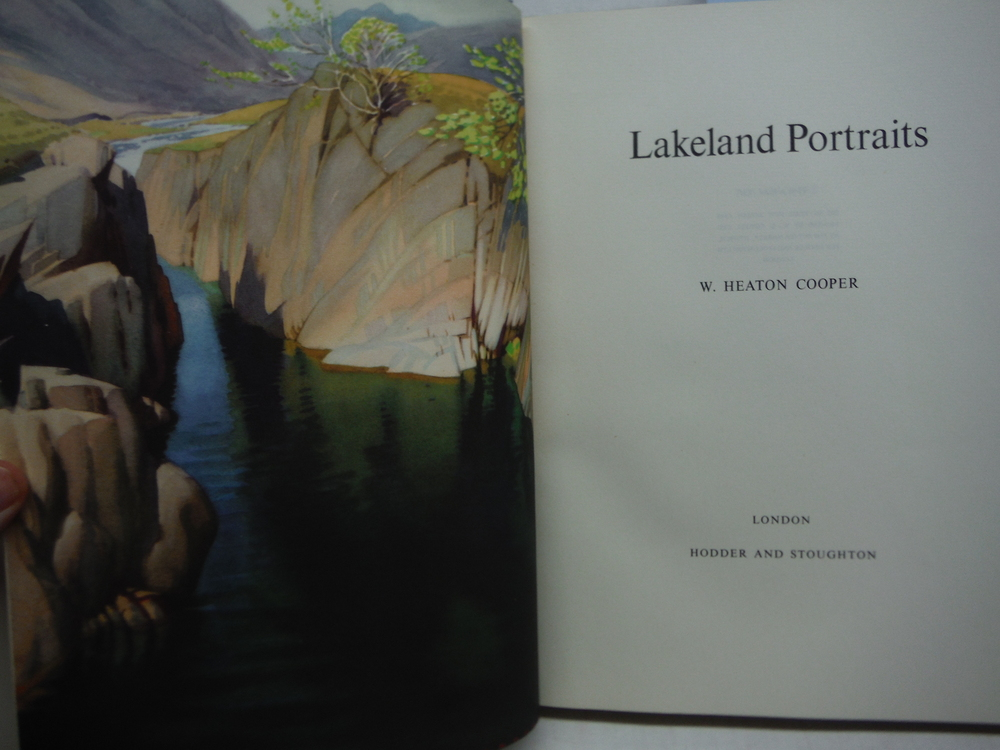 Image 1 of 1954 UK LAKELAND PORTRAITS LAKE DISTRICT ENGLAND LOVELY COLOR PRINTS DUST JACKET