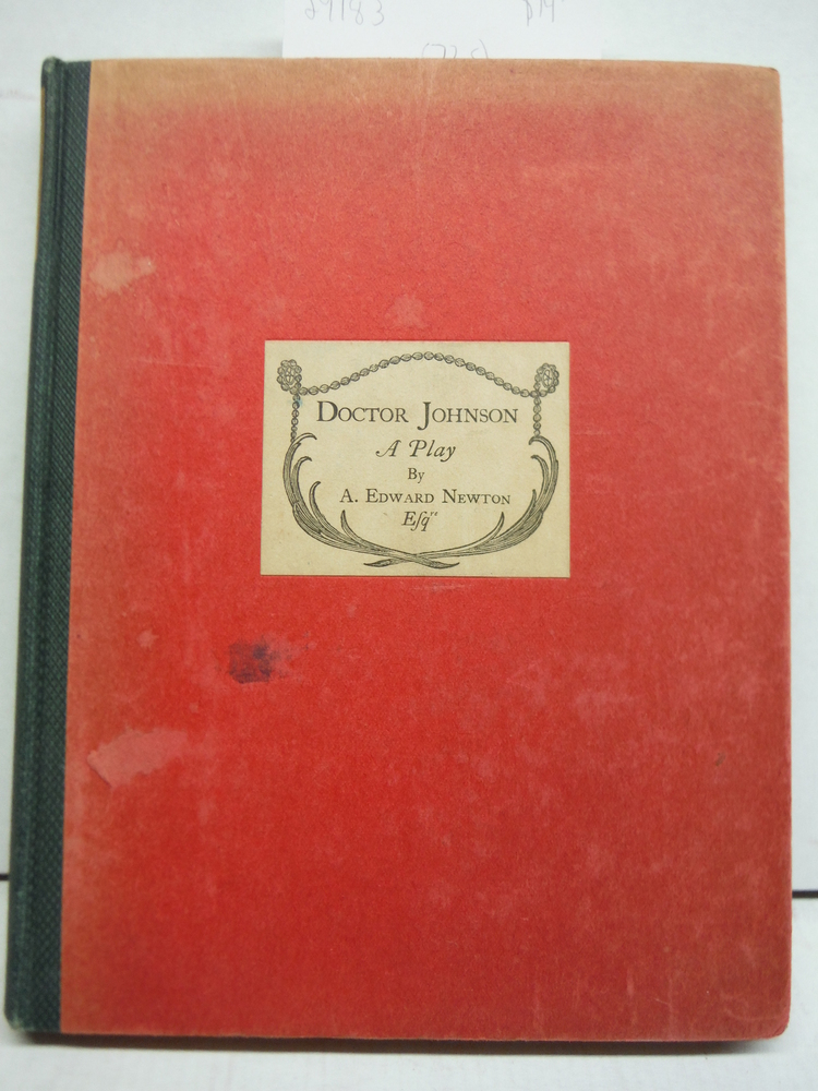 DOCTOR JOHNSON - A Play - Signed