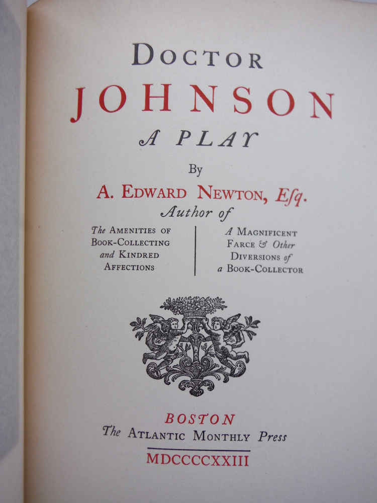 Image 1 of DOCTOR JOHNSON - A Play - Signed