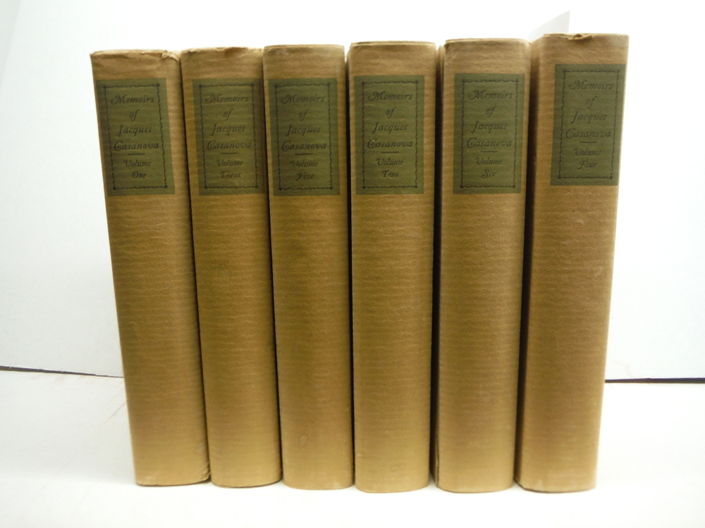 The Memoirs of Jacques Casanova (Six Vol. set Privately Printed (1928)