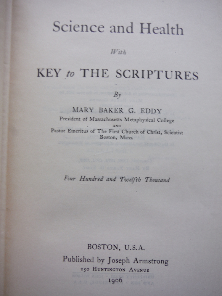 Image 1 of Science and Health With Key to The Scriptures
