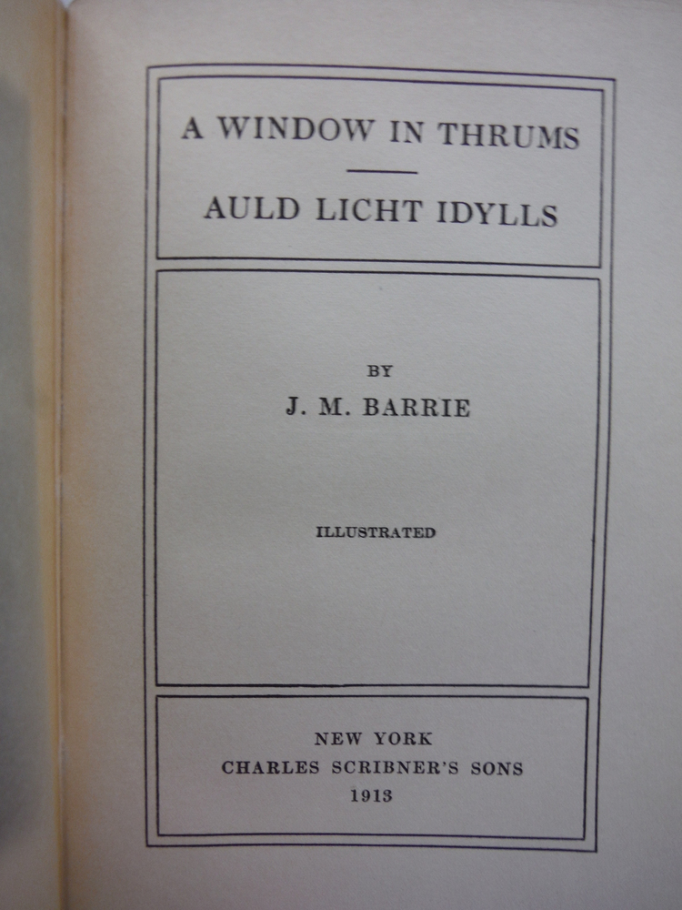 Image 1 of A Window in Thrums/Auld Licht Idylls