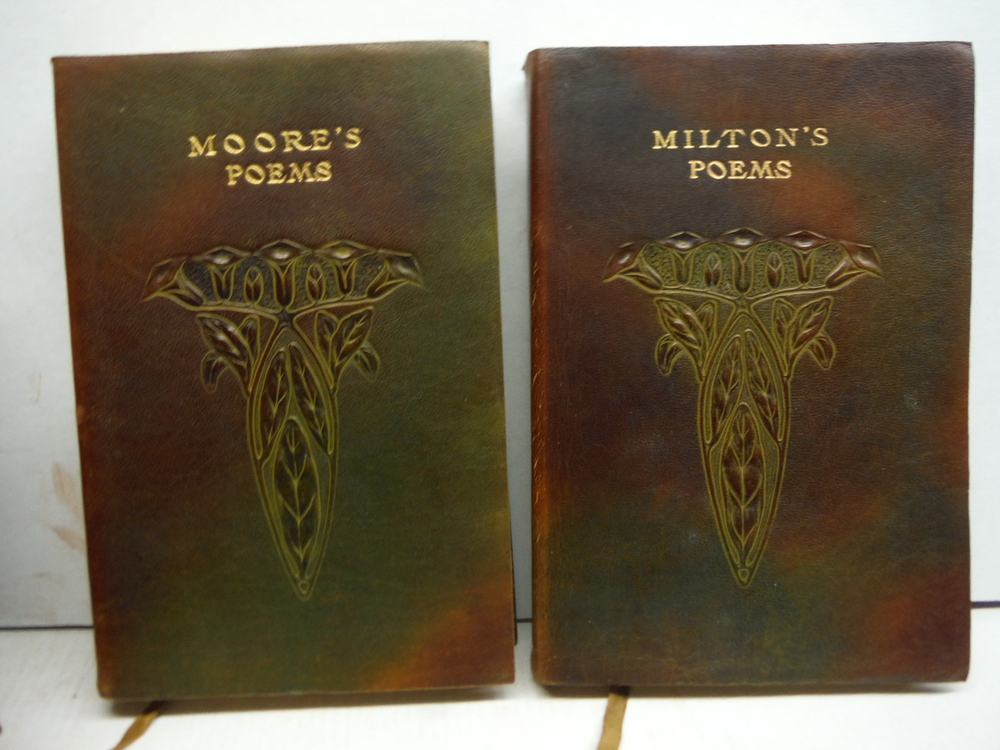 Image 4 of NINE ANTIQUE LEATHER BOUND BOOKS OF CLASSIC POETRY – CROWELL CIRCA 1900