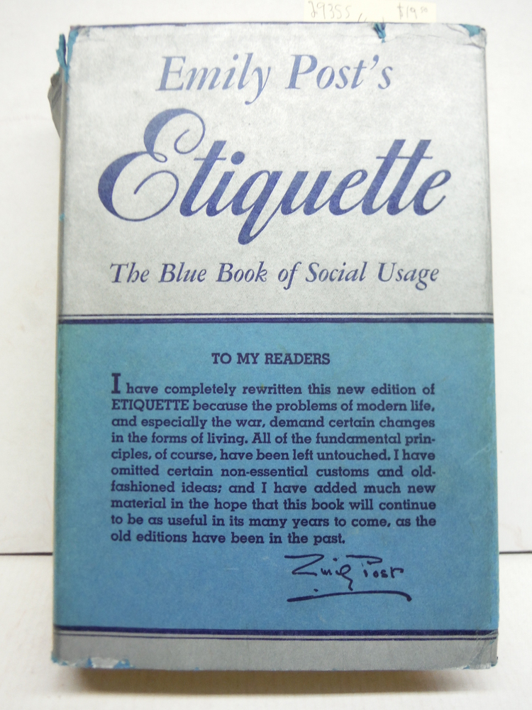 Etiquette, The Blue Book of Social Usage