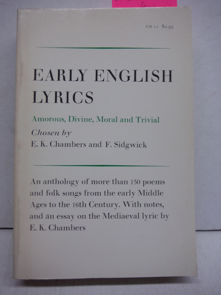 Image 0 of Early English Lyrics: Amorous, Divine, Moral and Trivial