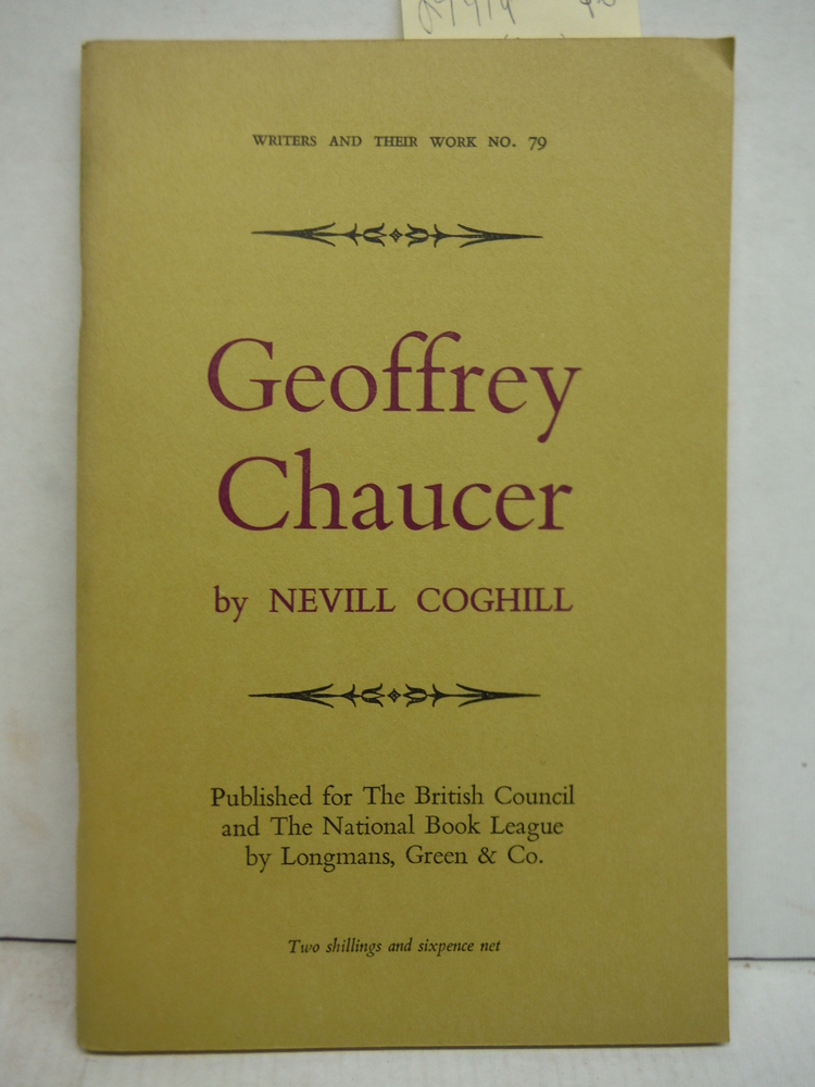 Geoffrey Chaucer. Writers and Their Work No. 79