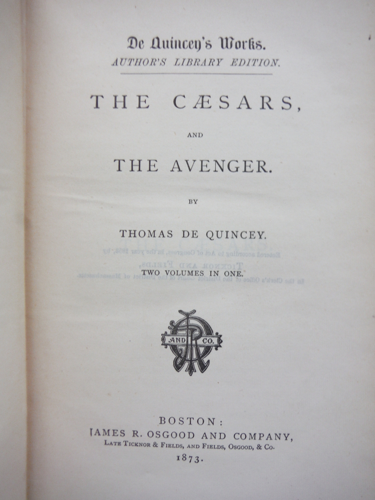 Image 1 of The Caesars and the Avenger