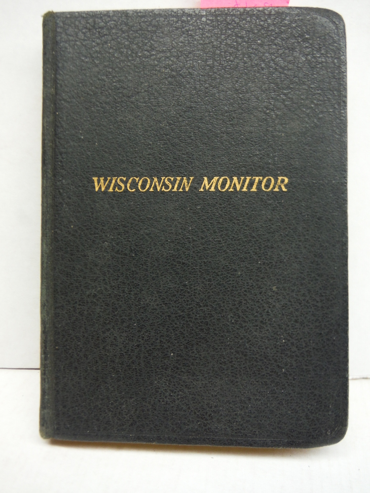 Wisconsin Monitor or Monitorial Instructions for the Use of Symbolic Lodges of F