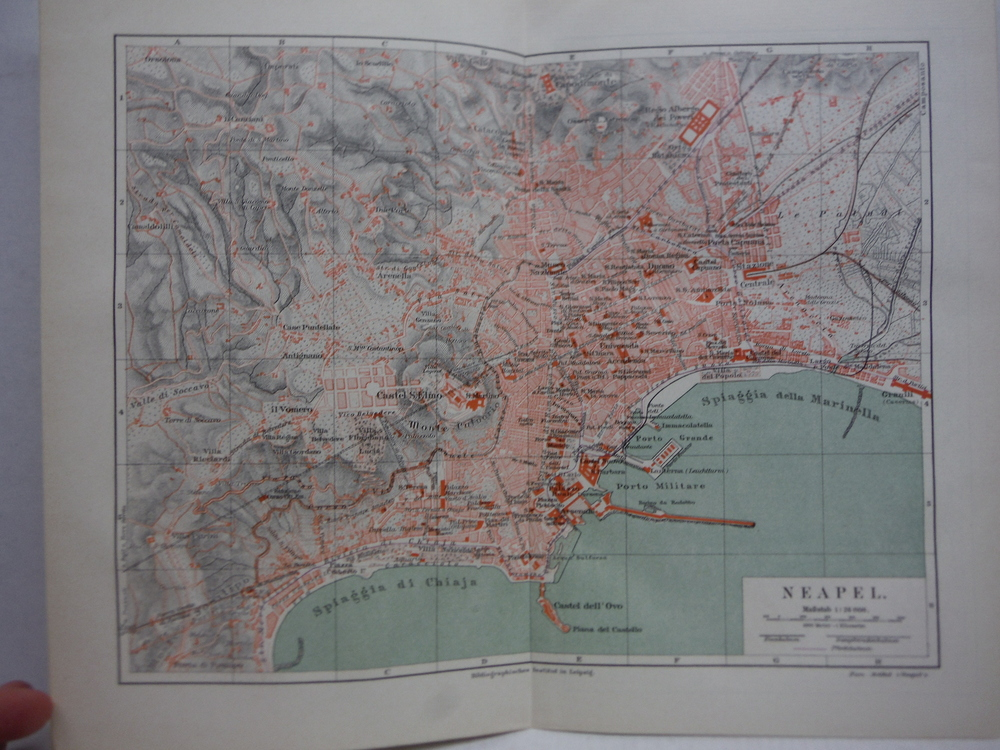 Image 0 of Meyers Antique Colored Map of  NEAPEL (NAPLES)  (1890)