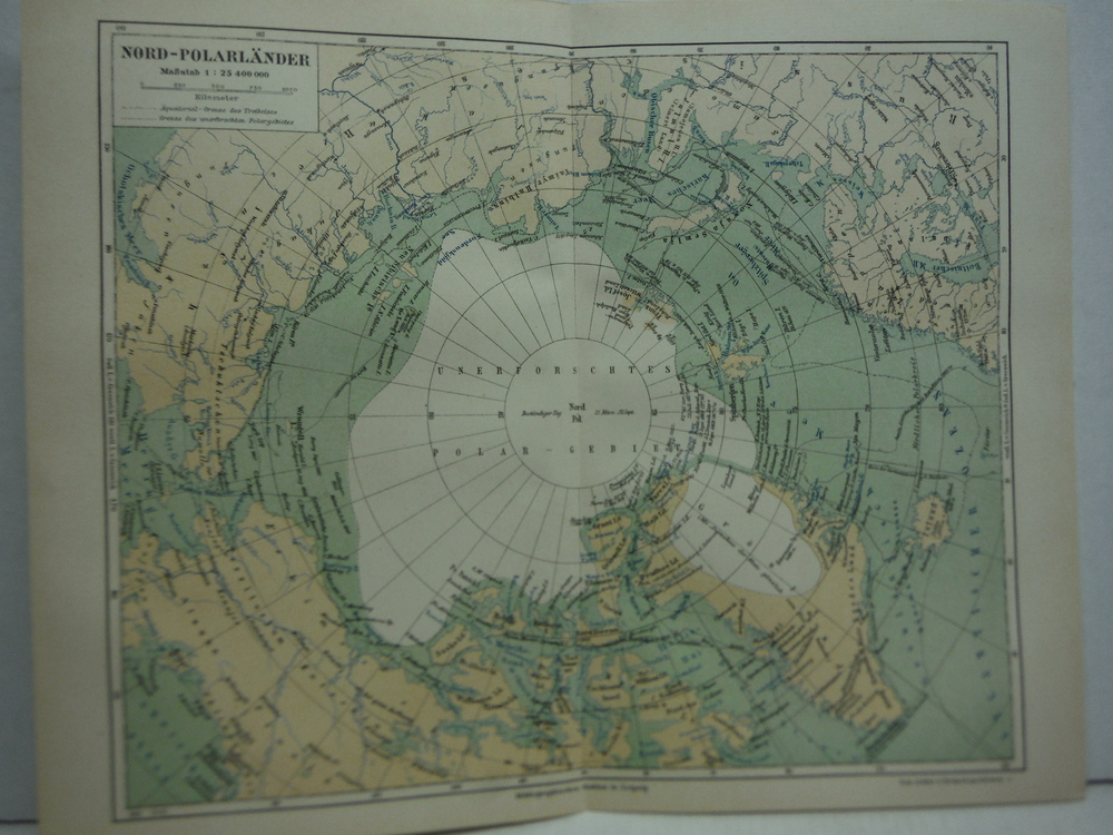 Image 0 of Meyers Antique Colored Map of  NORD-POLARLANDER  (1890)