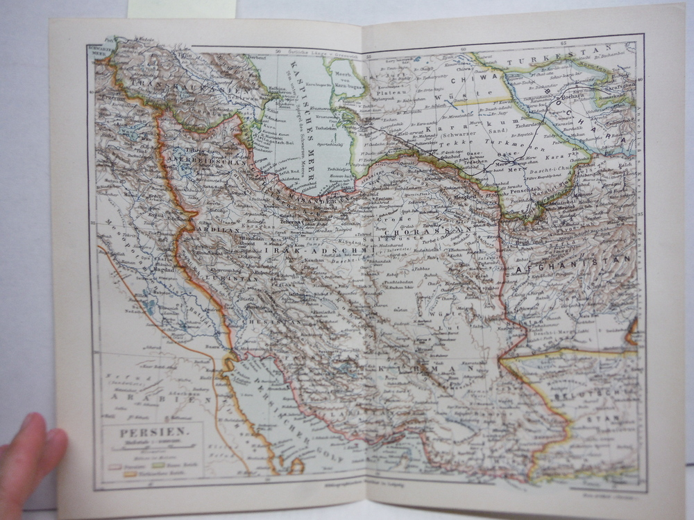Meyers Antique Colored Map of  PERSIEN (PERSIA)  (1890)