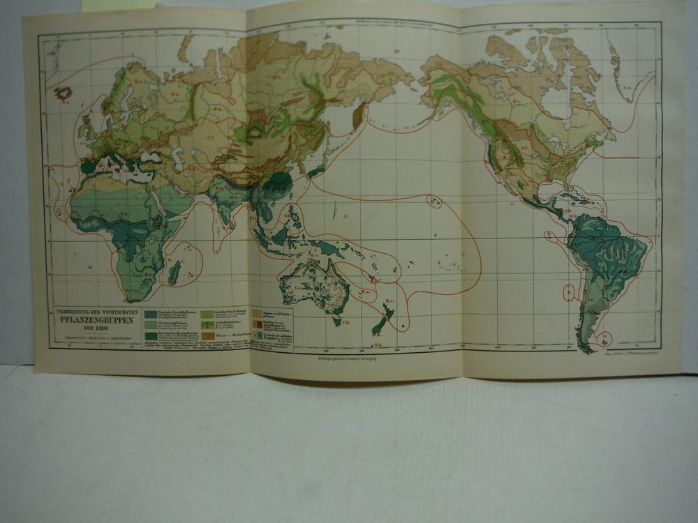 Image 0 of Meyers Antique Colored Map of  VERBREITUNG DER WICHTICHSTEN PFLANZENGRUPPEN DER