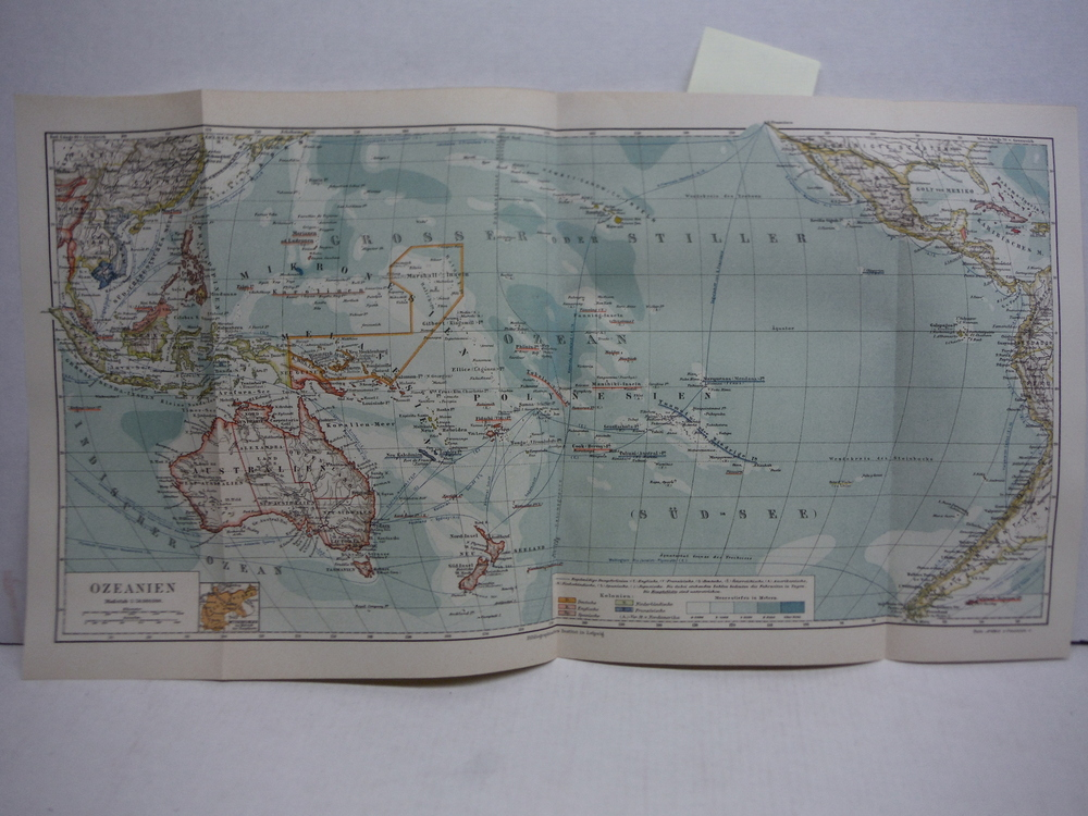 Image 0 of Meyers Antique Colored Map of  OZEANIEN(1890)