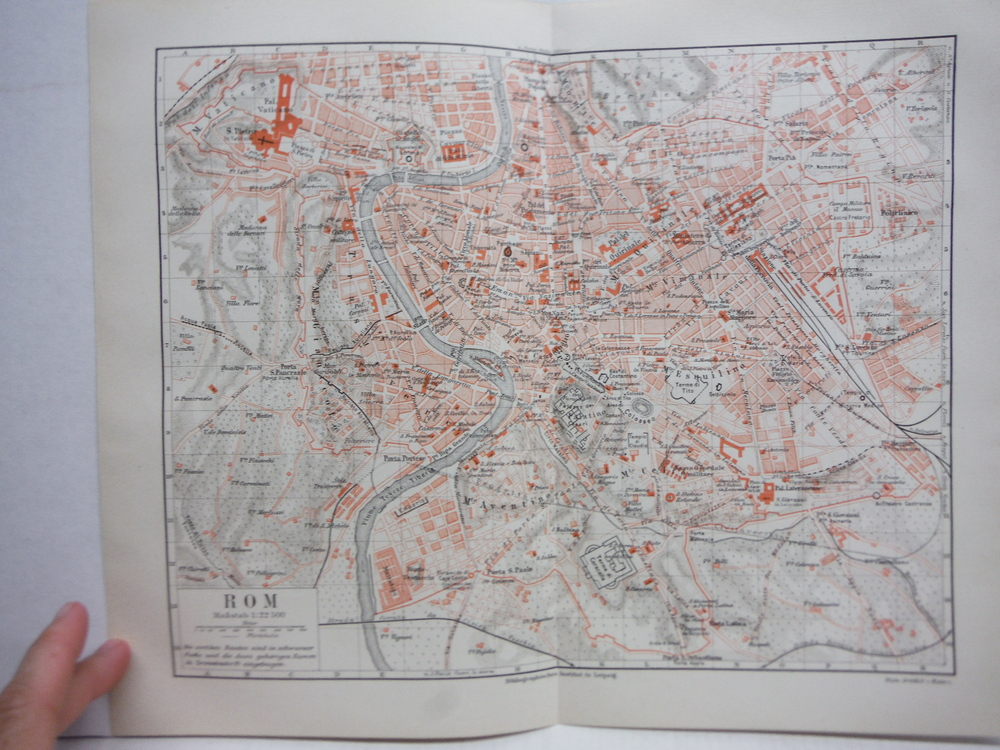 Image 0 of Meyers Antique Colored Map of  ROM (ROME) (1890)