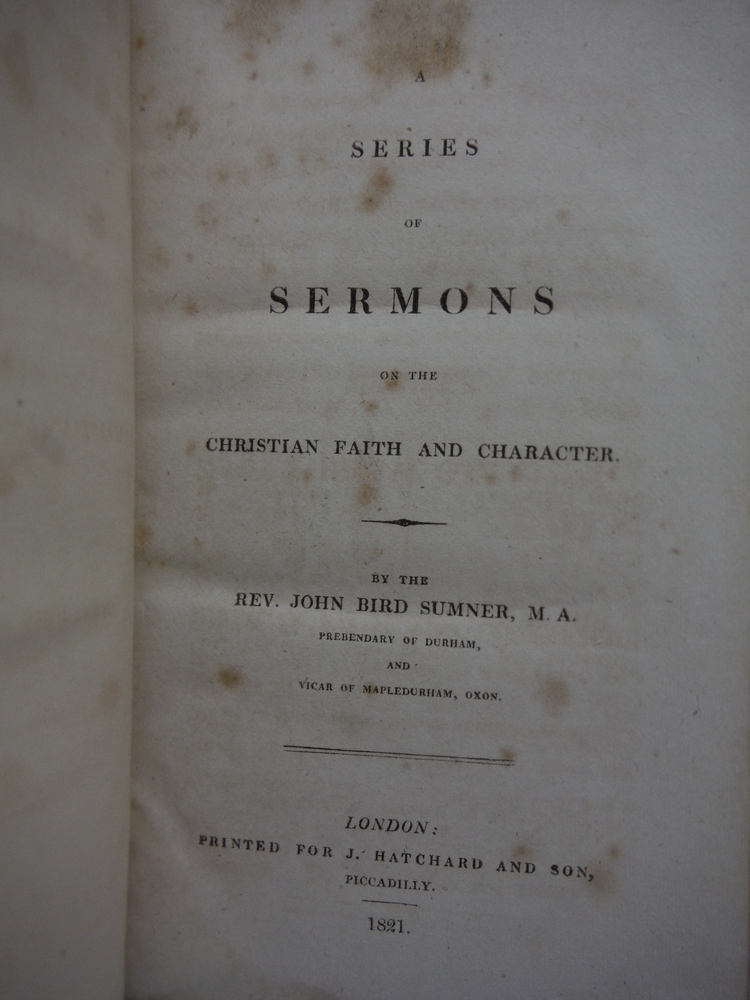 Image 1 of A series of sermons on the Christian faith and character