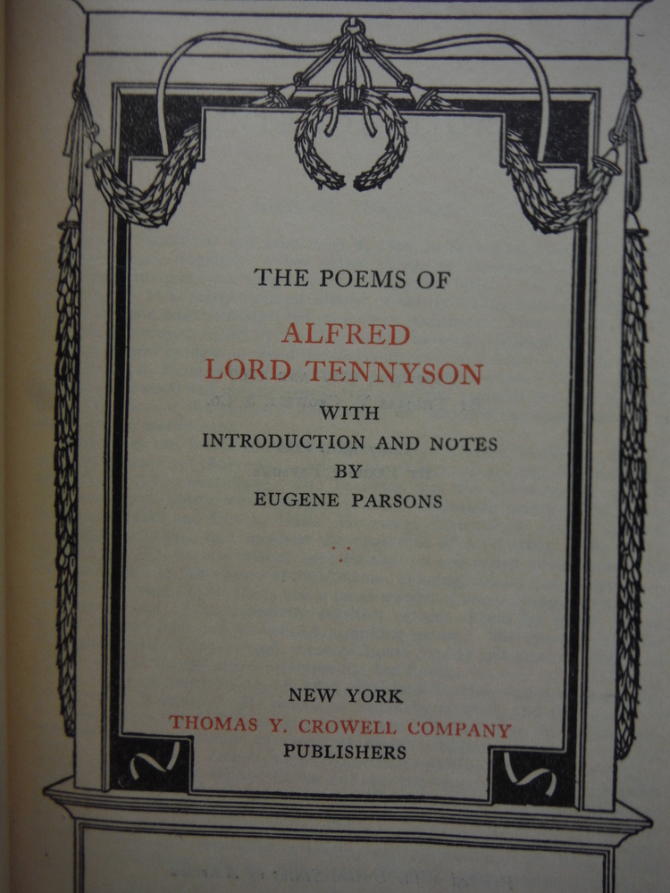 Image 1 of The Poems of Alfred Lord Tennyson