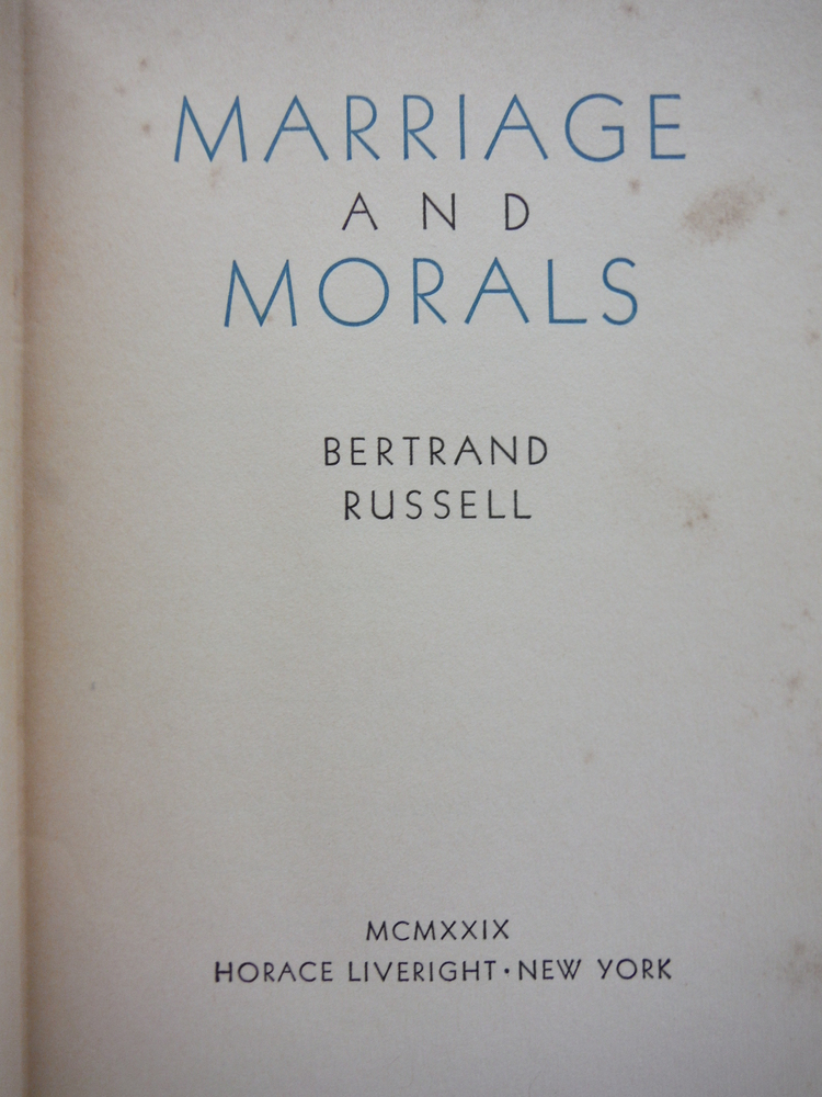 Image 1 of Marriage and Morals