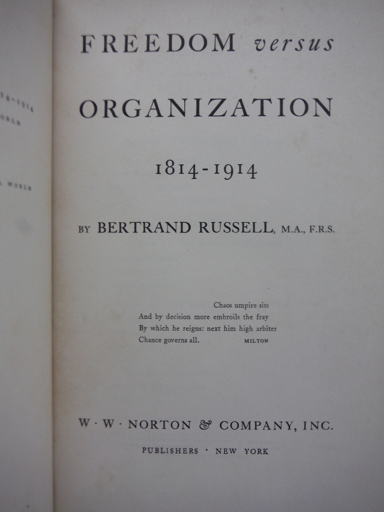 Image 1 of Freedom versus Organization, 1814-1914,