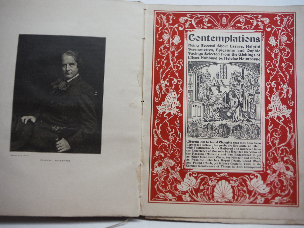 Image 1 of Contemplations, Being Several Short Essays, Helpful Sermonettes, Epigrams and Or