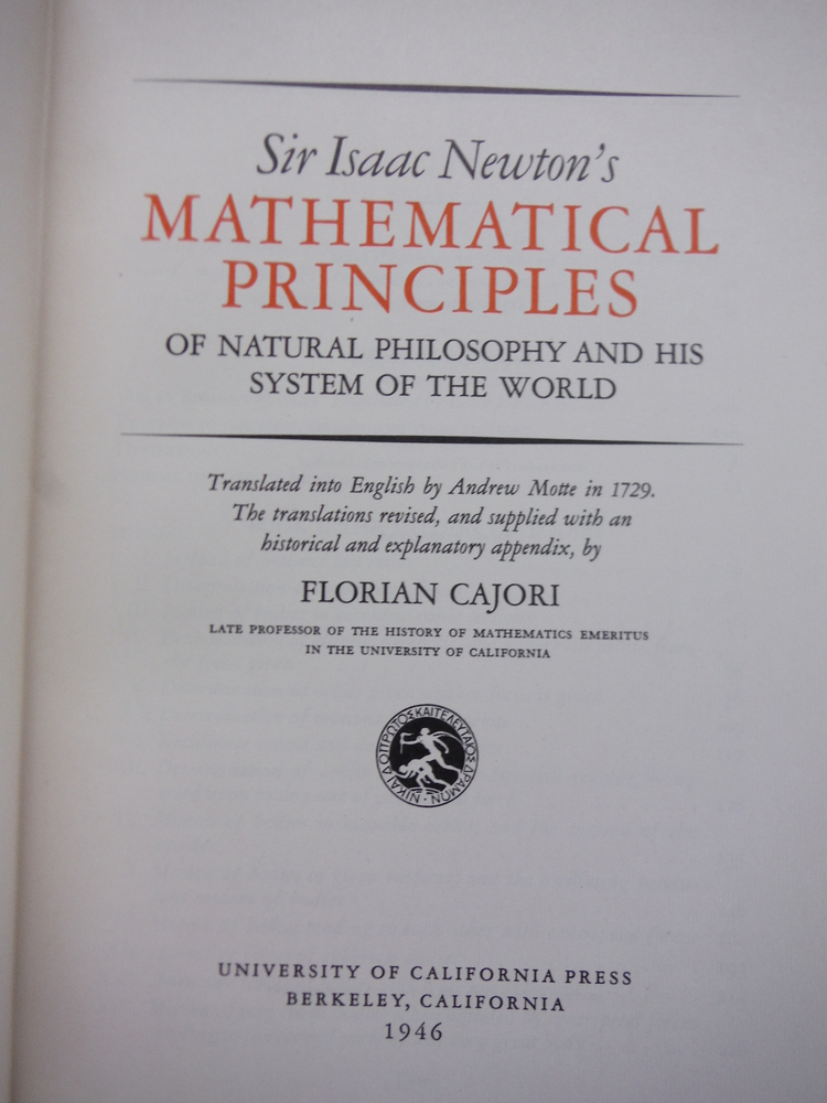 Image 1 of Sir Isaac Newton's Mathematical Principles of Natural Philosophy and His System