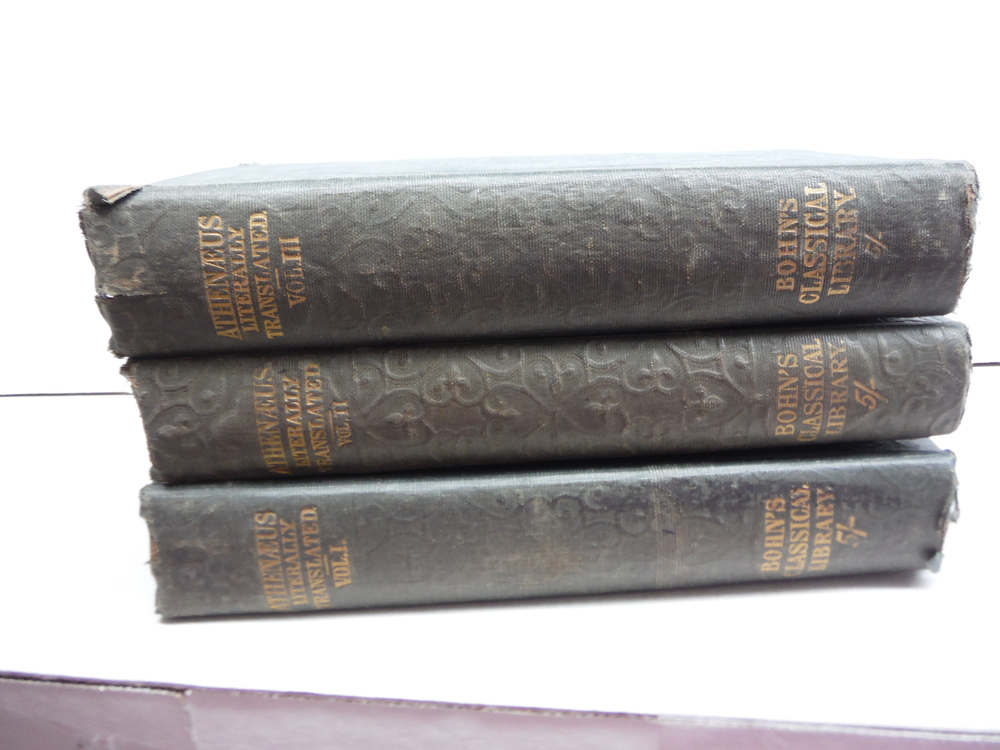THE DEIPNOSOPHISTS OR BANGUET OF THE LEARNED OF ATHENEUS (3 Vol. Set)