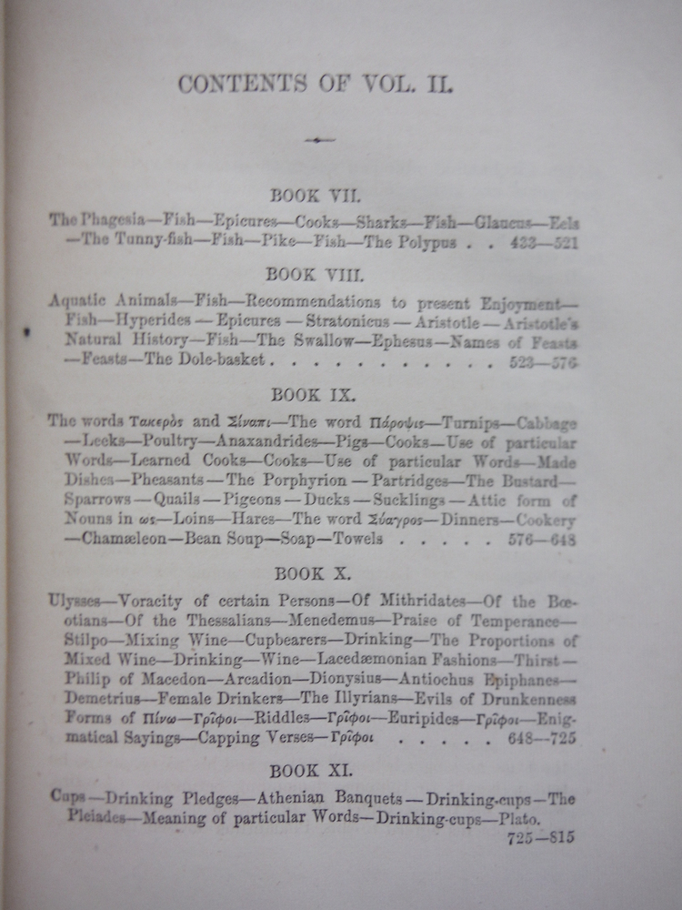 Image 3 of THE DEIPNOSOPHISTS OR BANGUET OF THE LEARNED OF ATHENEUS (3 Vol. Set)