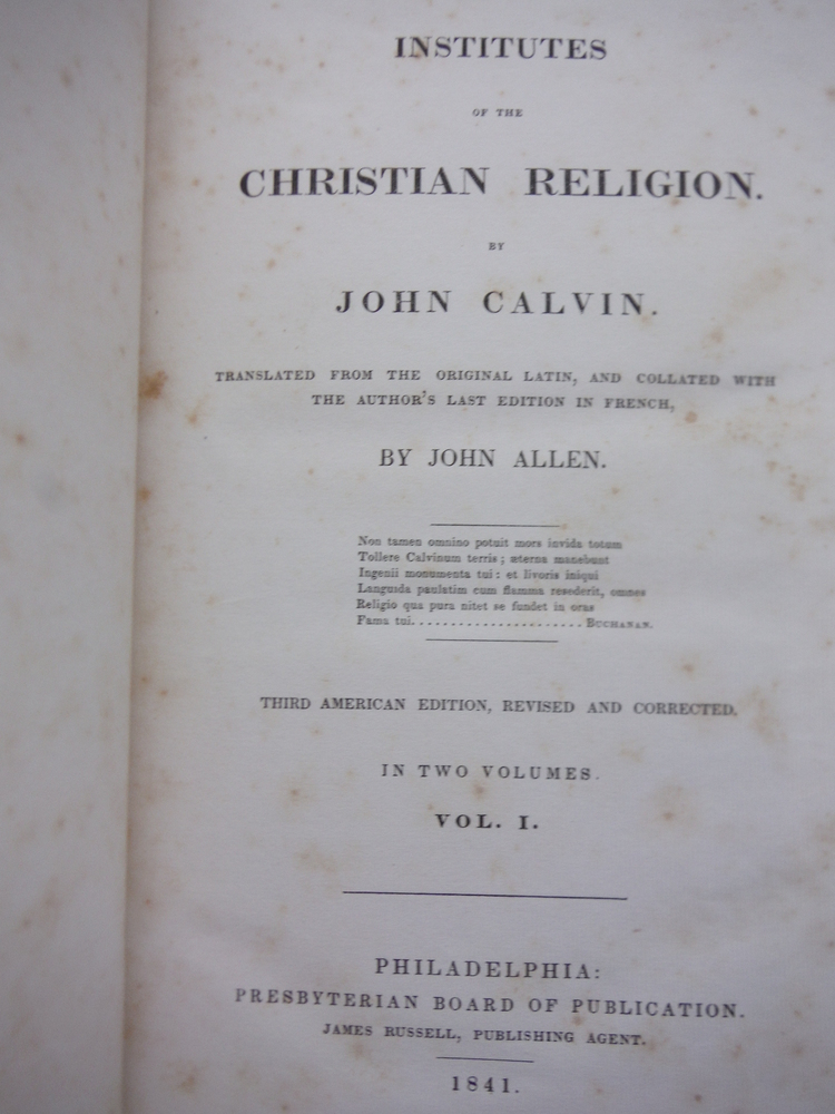 Image 3 of Institutes of the Christian religion (2 volume set)